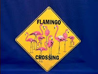 flamingo crossing sign