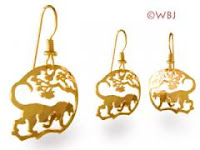 panther leopard earrings gold jewelry