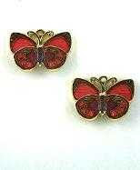 pink butterfly earrings post