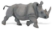 rhino toy animal figurine safari wildlife wonders