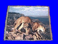 mountain lion blanket throw tapestry usa