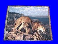 mountain lion blanket throw tapestry usa