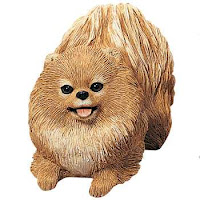 Sandicast Pomeranian Dog Figurine