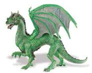 green forest dragon toy miniature