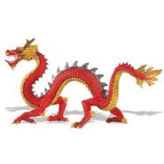 red Chinese serpentine dragon toy miniature