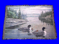 loon blanket throw tapestry