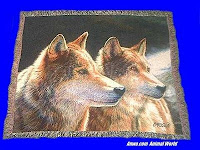 wolf blanket throw tapestry brothers in the wild