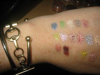 mac Pigment Swatches