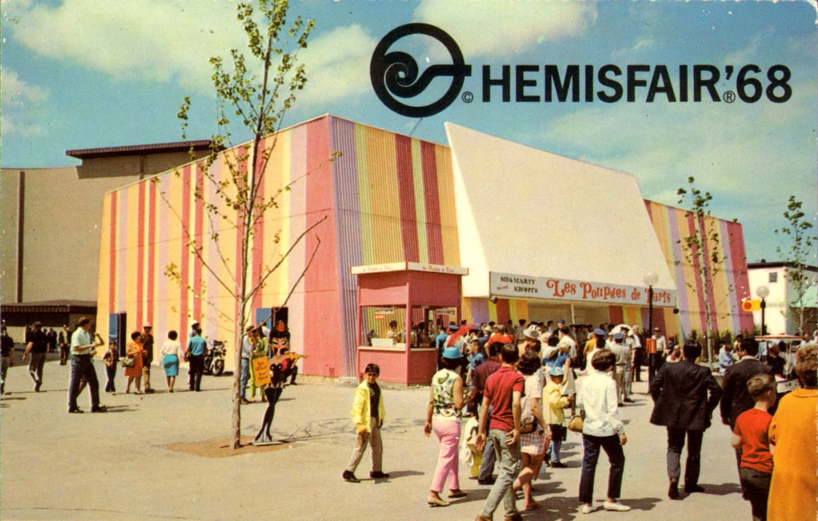 Vintage Chrome Postcards Hemisfair 68