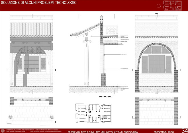 progetto, particolari tecnologici