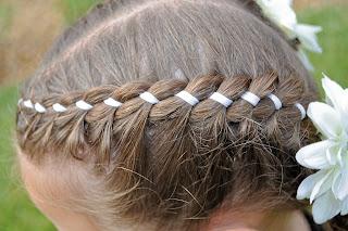 Pleasing Princess Piggies Ribbon Braid Short Hairstyles For Black Women Fulllsitofus