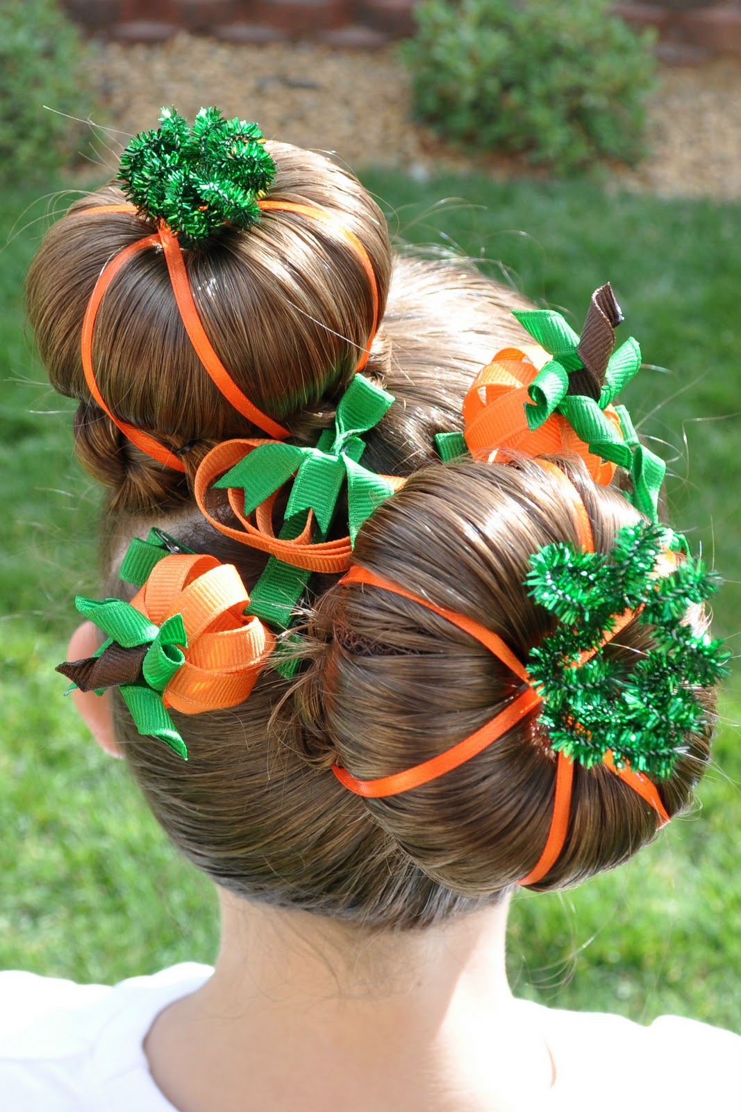 Princess Piggies Halloween Hairdos Pumpkin Patch