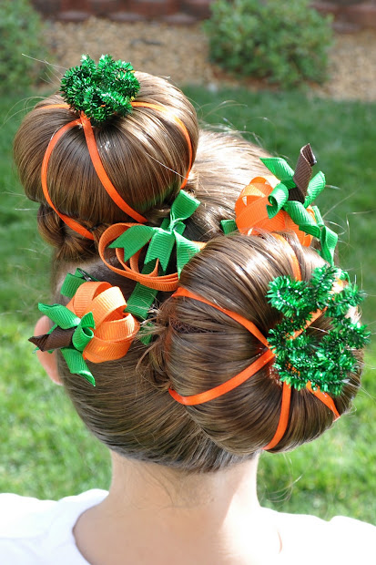 princess piggies halloween hairdos