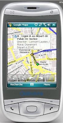 google transit sur mobiles bordeaux
