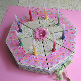 Cardsbyjen Kylie S Paper Birthday Cake