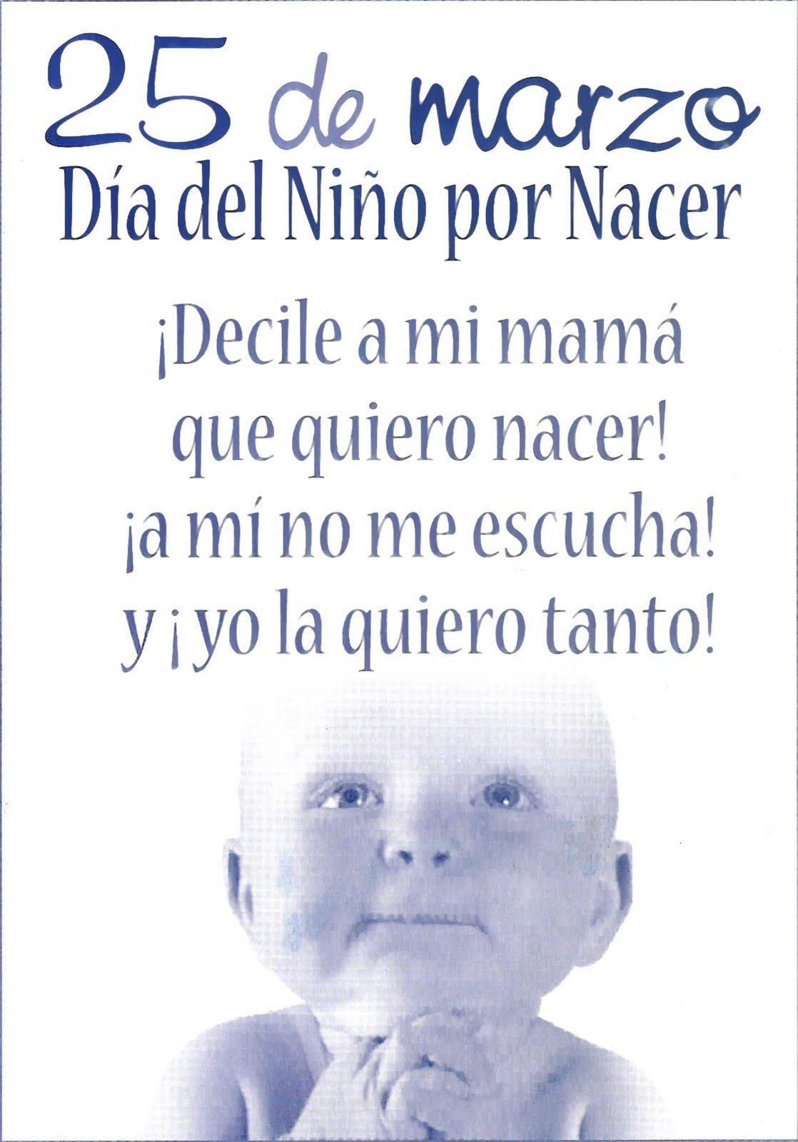 Back Guc 25 De Marzo Día Del Niño Por Nacer