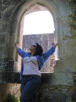 Euzinha algures no Castelo de Leiria
