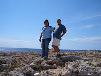 O Pedro e a Nanda, algures em Menorca