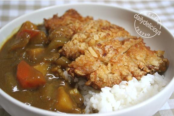 dailydelicious: Tonkatsu Curry Rice