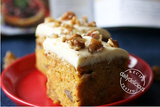 rather pleasing carrot cake with lime mascarpone Icing
