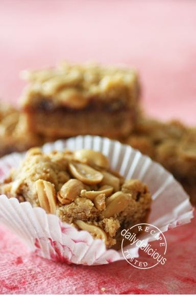 Dailydelicious Peanut Butter And Jelly Bars From Martha
