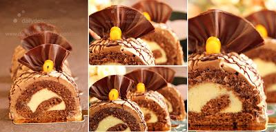 Chocolate Roll Cointreau Chocolate Cornflake Cakes And Cream