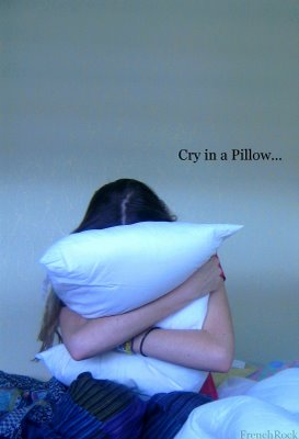 Girl Crying Into Pillow