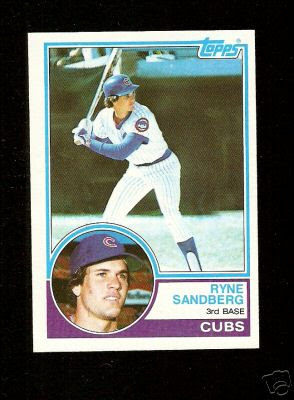 Hall Of Fame Cards Top Cards Of The 1980s 8 Ryne Sandberg 1983 Topps