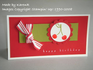 Tart and tangy and Stampin Up