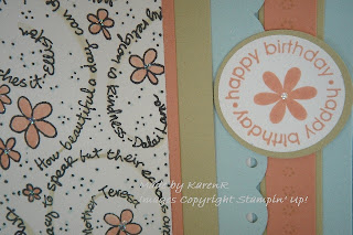 Stampin Up and Kindness Wheel