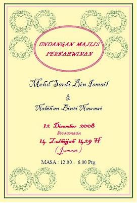 Bintulu Iqra Center Jemputan Ke Majlis Perkahwinan Ustaz Sardi