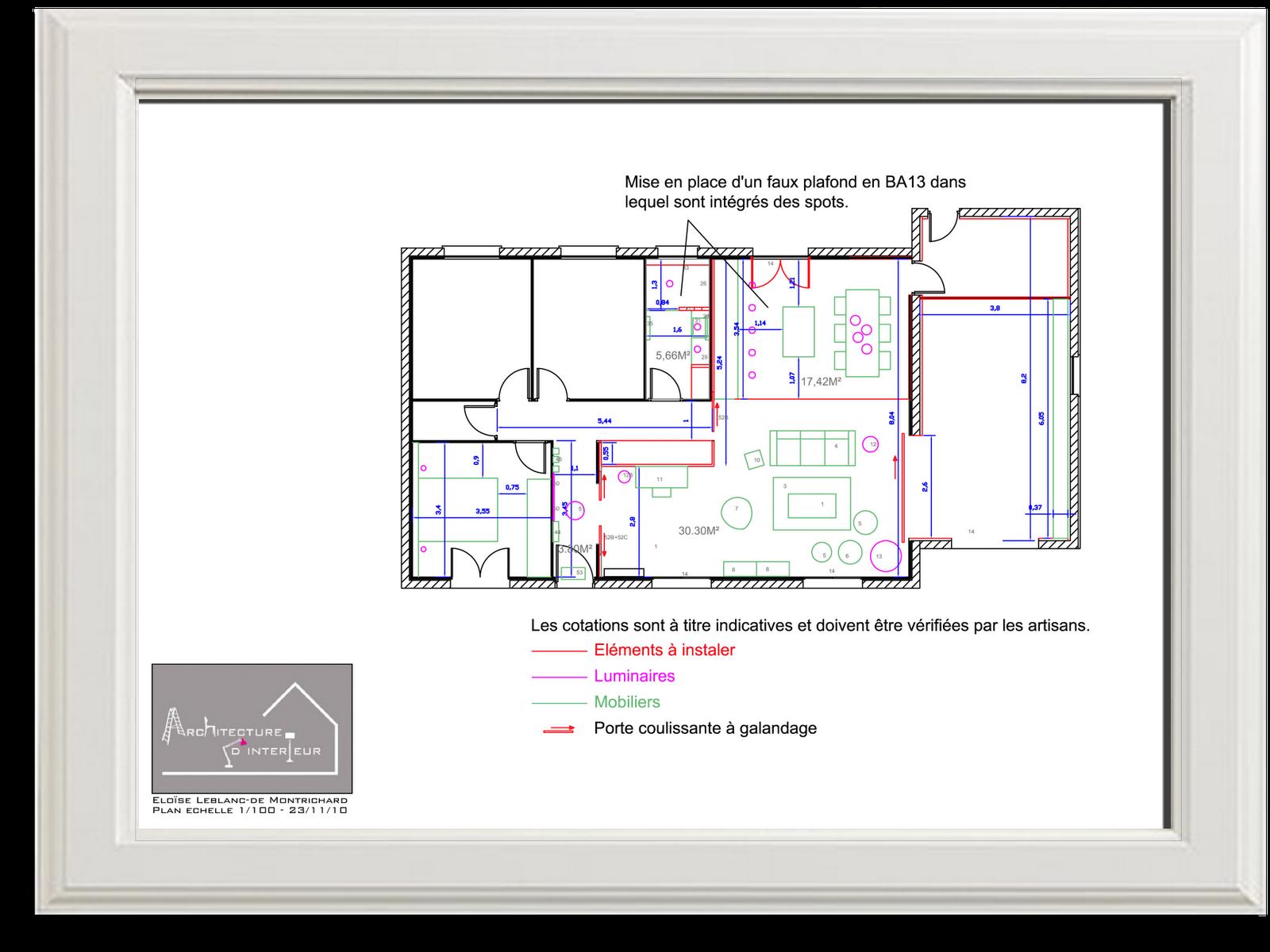 Plan Porte À Galandage changer d'intérieur in english: housing