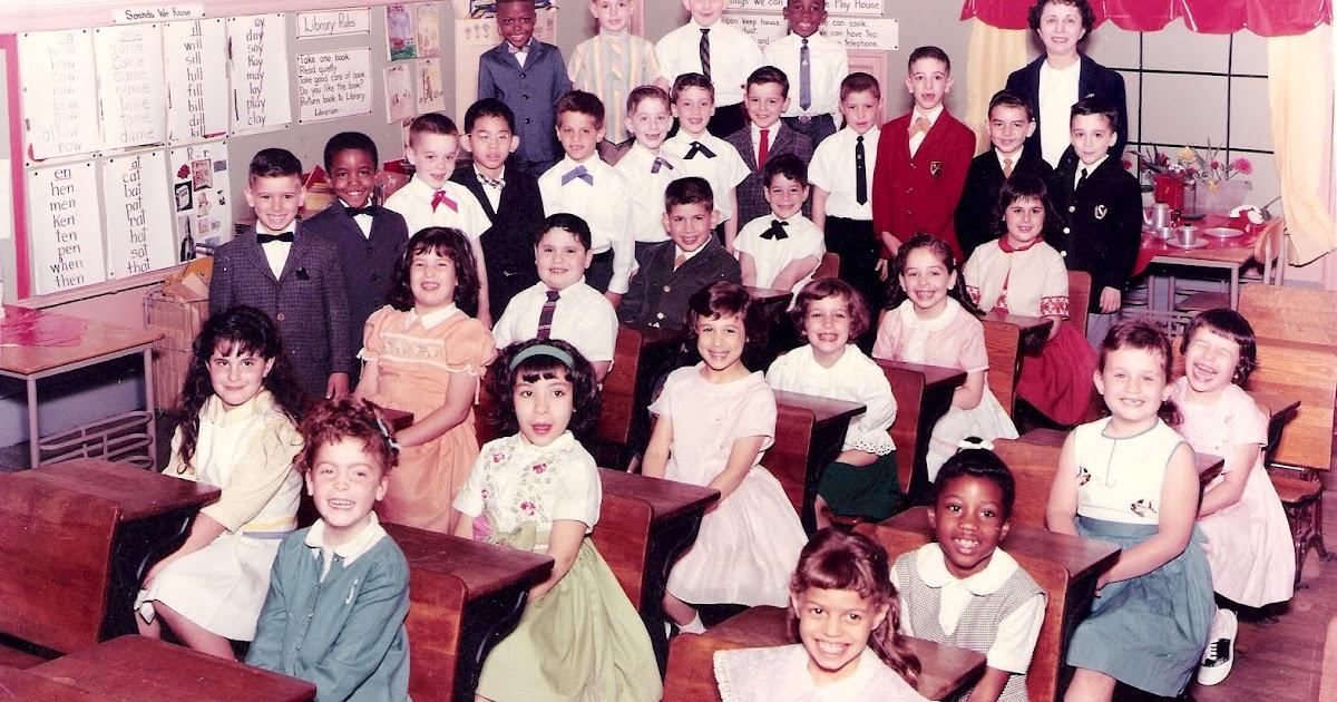 Orange Crate Art A P S 131 Class Picture 1962 1963