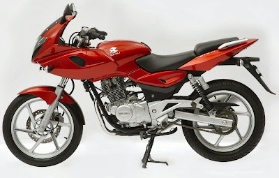 BAJAJ PULSAR in red color