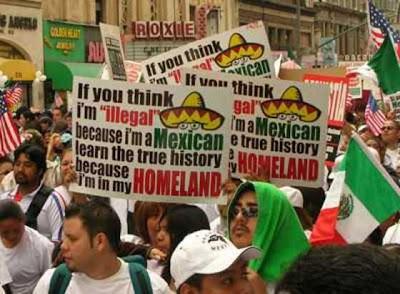 rhetoric arizona law illegals protest demand human rights bigger backlash