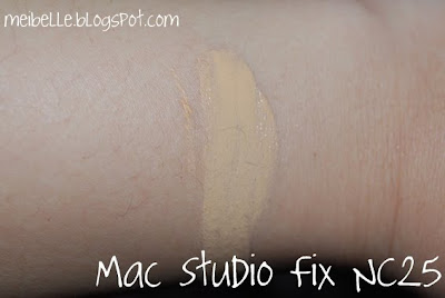 mac studio fix nc25 swatch