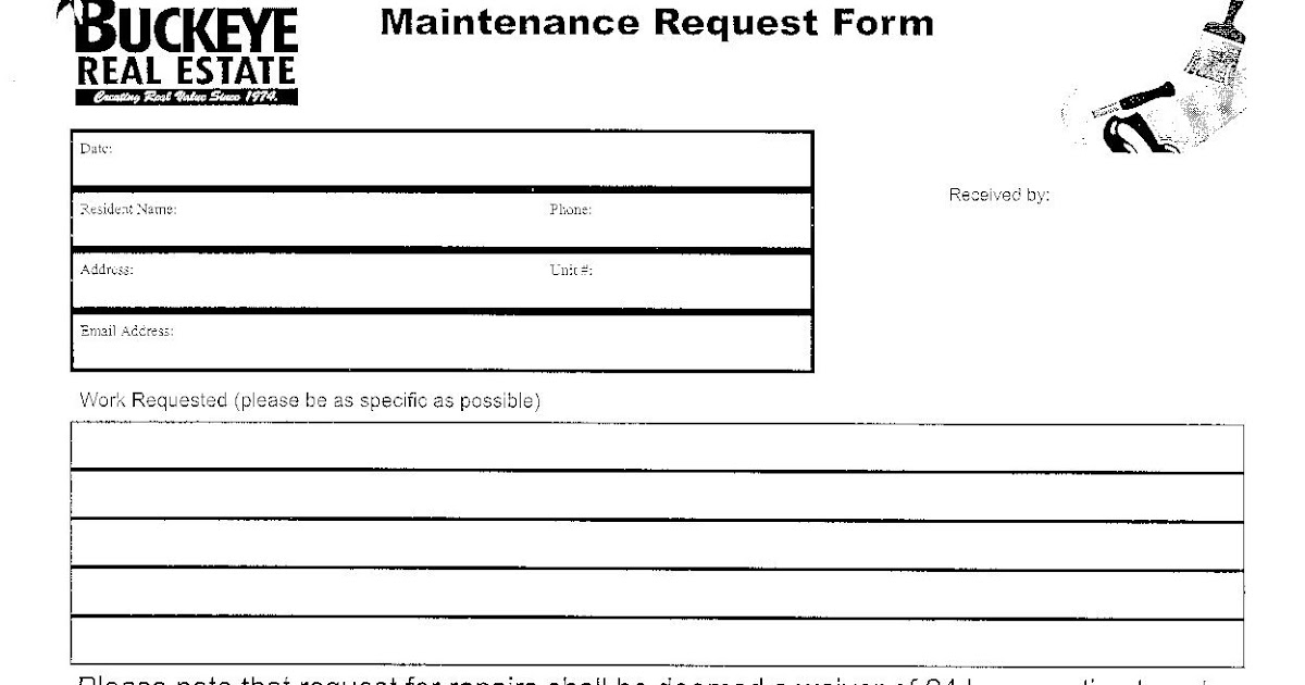 Chestnut Hill Apartments: Maintenance Request Form