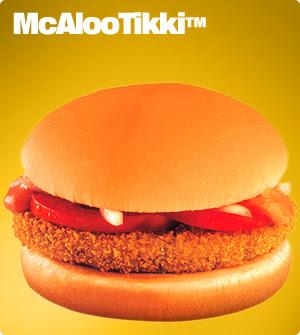 From McDonalds India website: McAloo Tikki