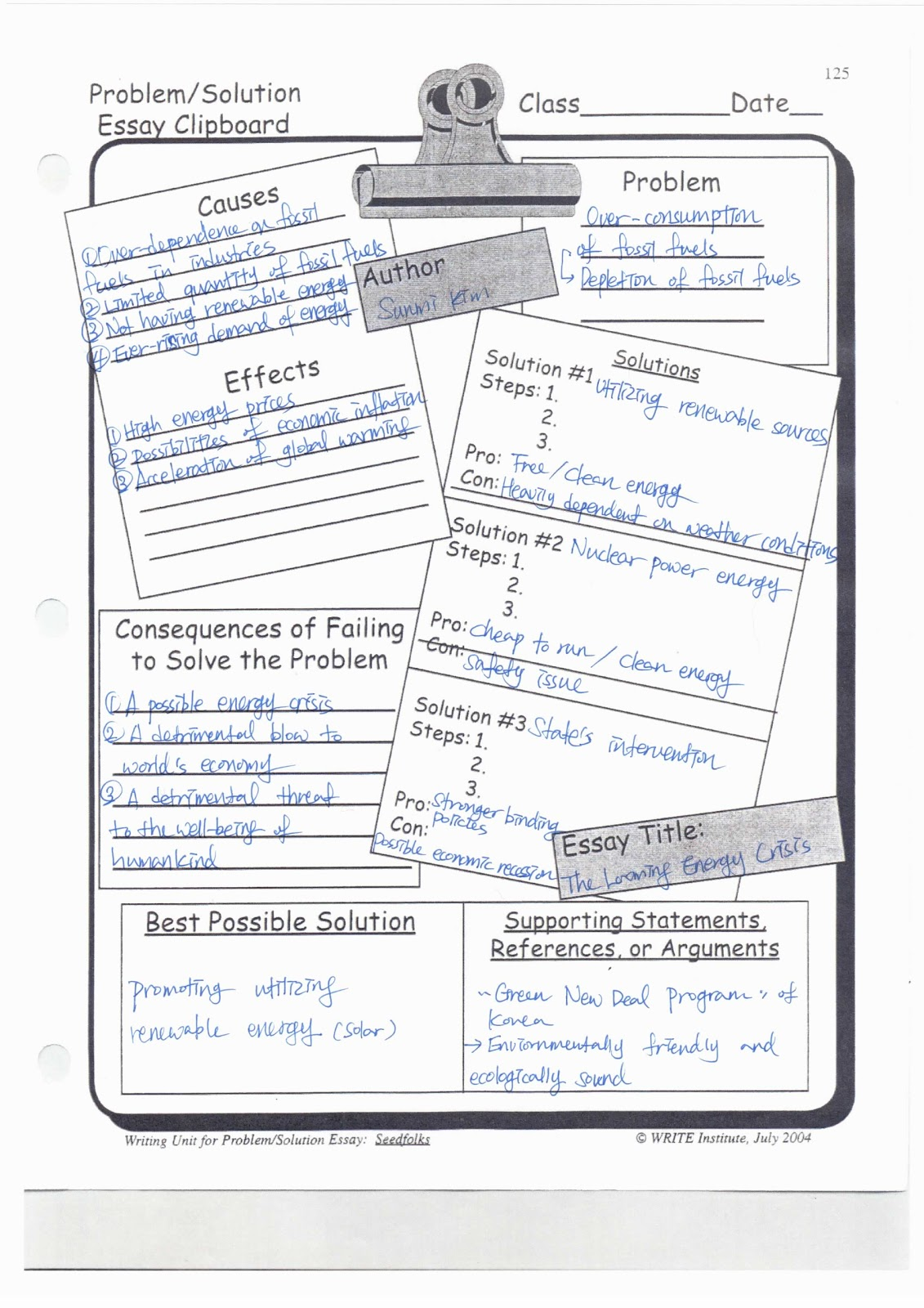 Eesl 545 Sunmi Kim Graphic Organizers For Problem Solving