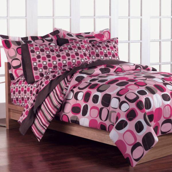 Teen Bedding Pink Brown 48