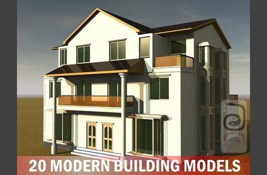 Free 3D Models - 20 Modern Building Models Collection 20+modern+building+models+collection