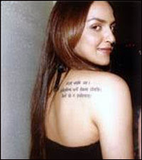 Bollywood Tattoo Celebrity Tattoo