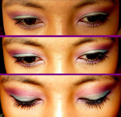 blue and purple makeup. Maybelline UV Makeup Base in
