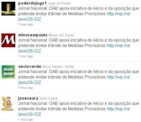 Spam Aecio neves PSDB MG Robo no Twitter manipulação redes sociais