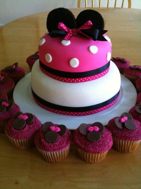 I Design Minnie Mouse Cake