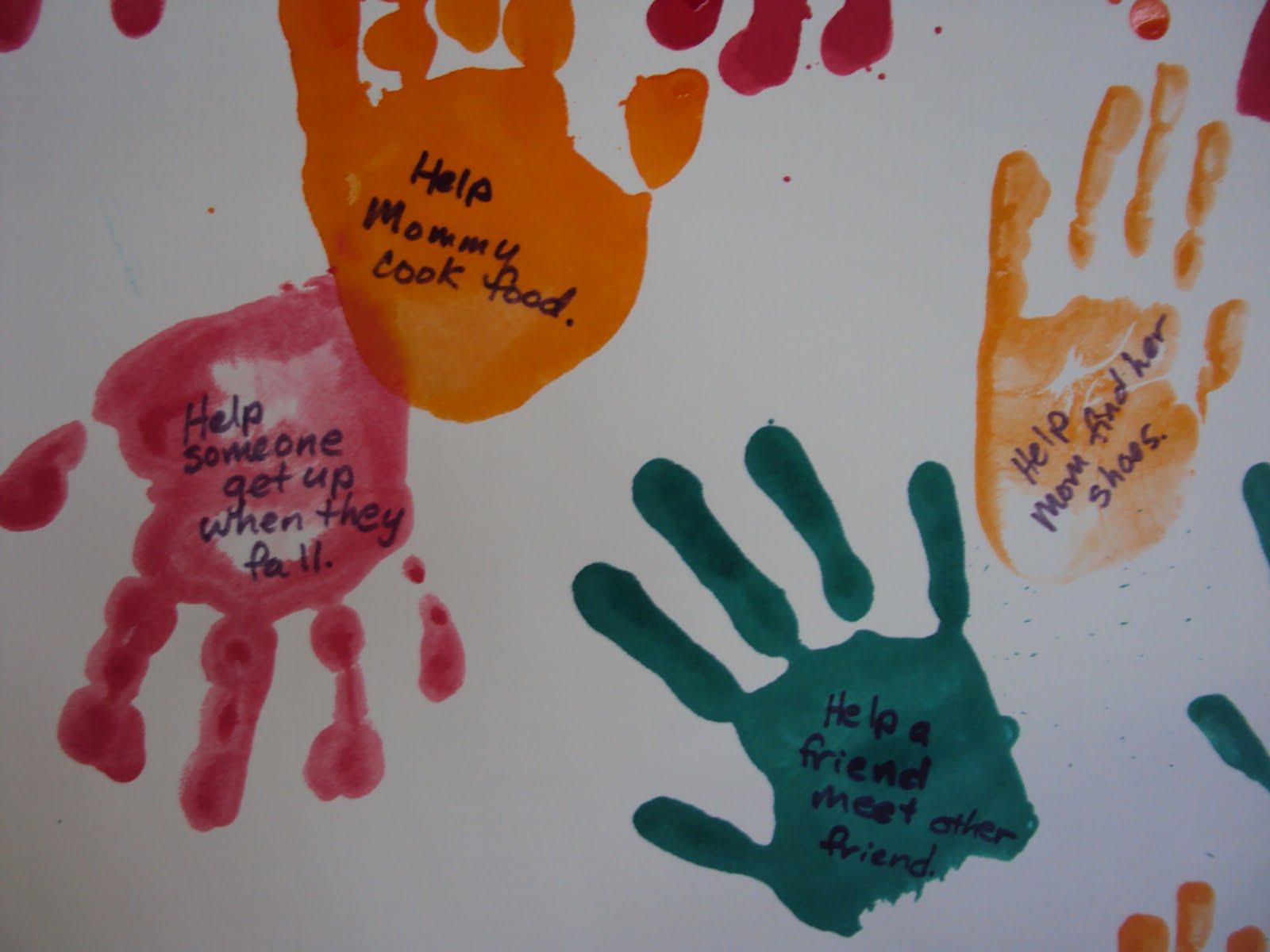 Good samaritan sunday school craft - Handprints Helping Hands Craft Addition From The Good Samaritan