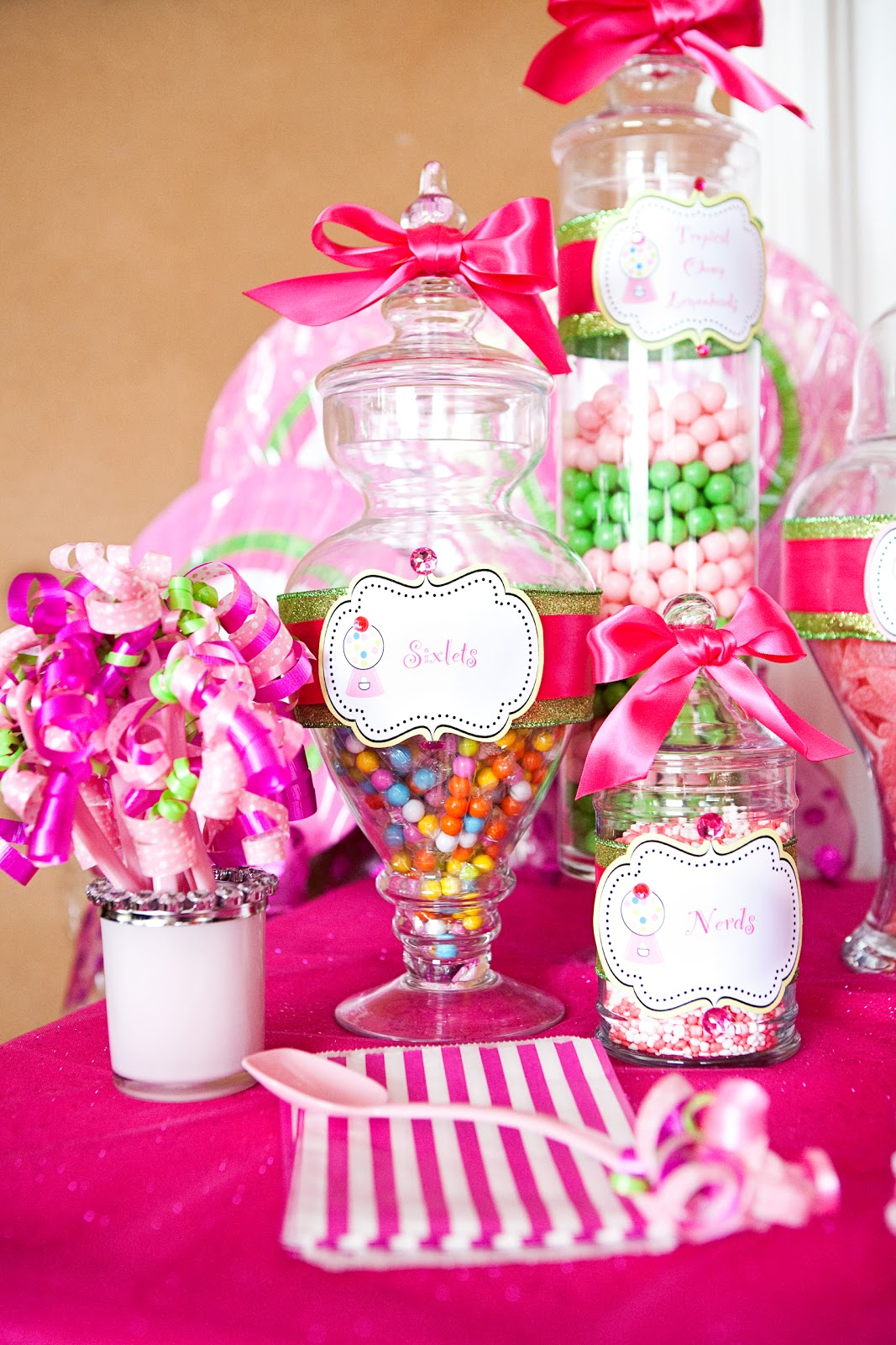 girls birthday party themes the tomkat studio sweet customers pink sweet shoppe 30383