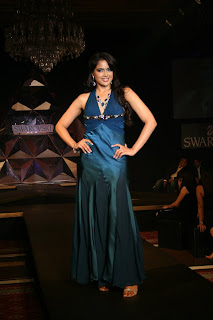 Sameera Reddy on the Ramp for Swarovski's Autumn-Winter collection, 2007