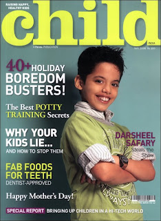 Darsheel Safary becomes Cover Boy for Child