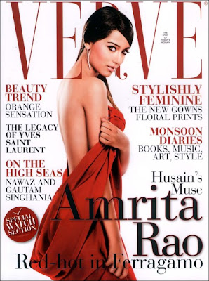 Amrita Rao turns Red Hot- features on cover of Verve this month
